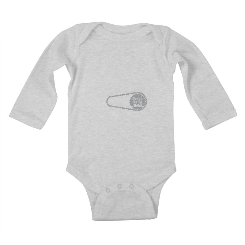 Pedal to the Metal Side Version Kids Baby Longsleeve Bodysuit by CRANK. outdoors + music lifestyle clothing