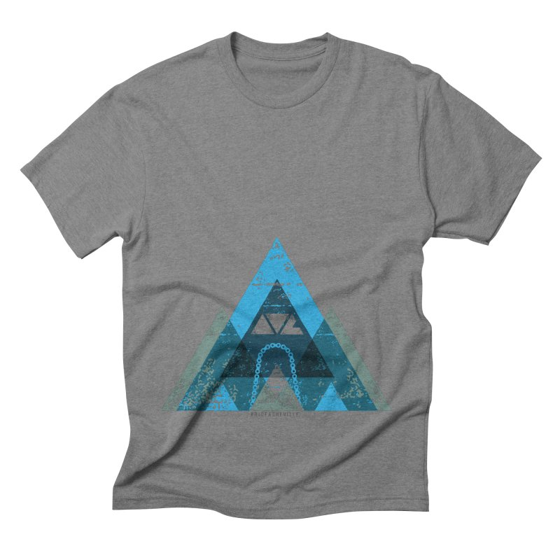 RIDE.AVL.MTN in Men's Triblend T-shirt Grey Triblend by CRANK. outdoors + music lifestyle clothing