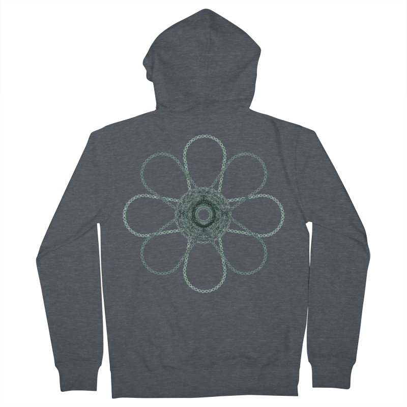 Chain Flower Power Women's Zip-Up Hoody by CRANK. outdoors + music lifestyle clothing