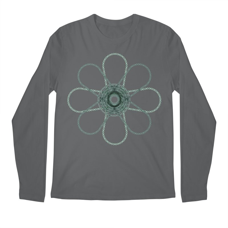 Chain Flower Power Men's Longsleeve T-Shirt by CRANK. outdoors + music lifestyle clothing