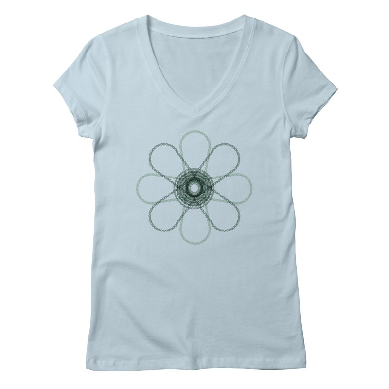 Chain Flower Power Women's V-Neck by CRANK. outdoors + music lifestyle clothing