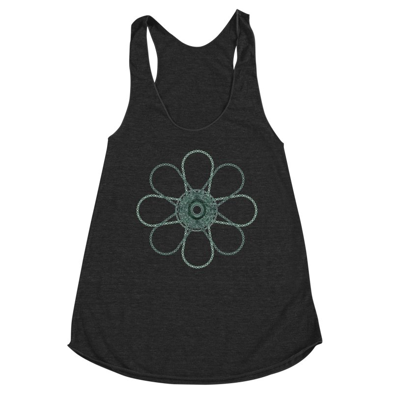 Chain Flower Power Women's Tank by CRANK. outdoors + music lifestyle clothing