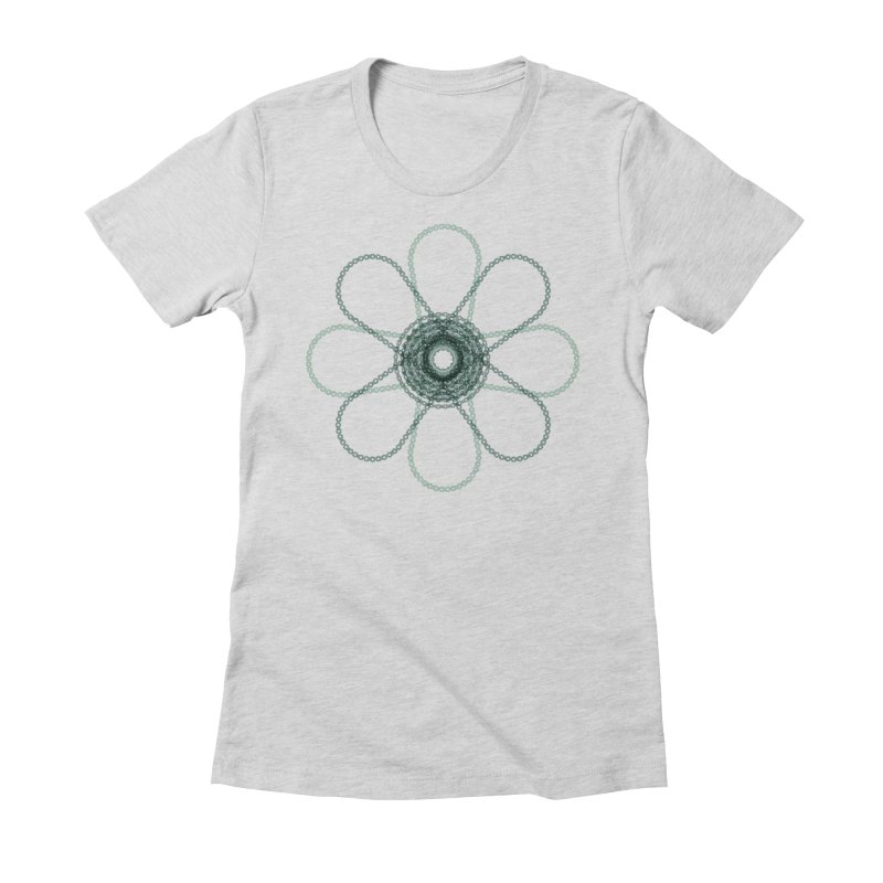 Chain Flower Power Women's T-Shirt by CRANK. outdoors + music lifestyle clothing