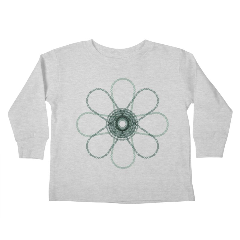 Chain Flower Power Kids Toddler Longsleeve T-Shirt by CRANK. outdoors + music lifestyle clothing