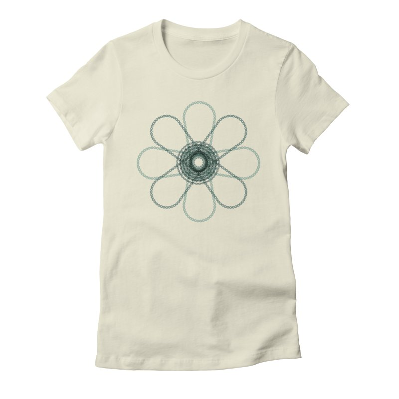 Chain Flower Power in Women's Fitted T-Shirt Natural by CRANK. outdoors + music lifestyle clothing
