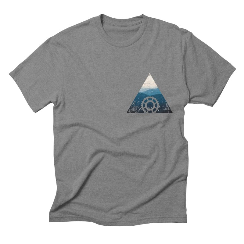 MTN GEAR in Men's Triblend T-shirt Grey Triblend by CRANK. outdoors + music lifestyle clothing