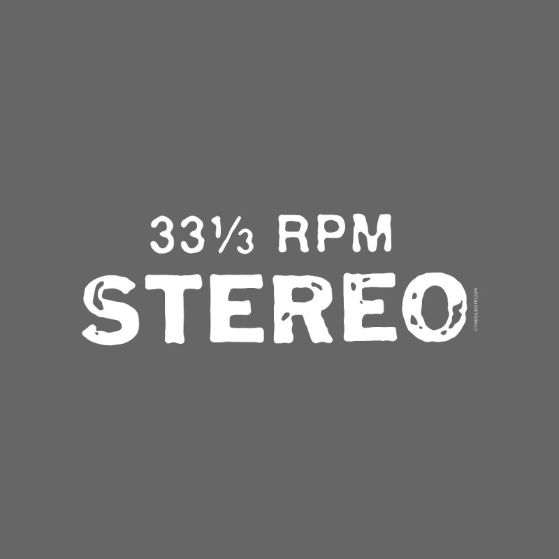 33 1/3 STEREO white Women's V-Neck by CRANK. outdoors + music lifestyle clothing