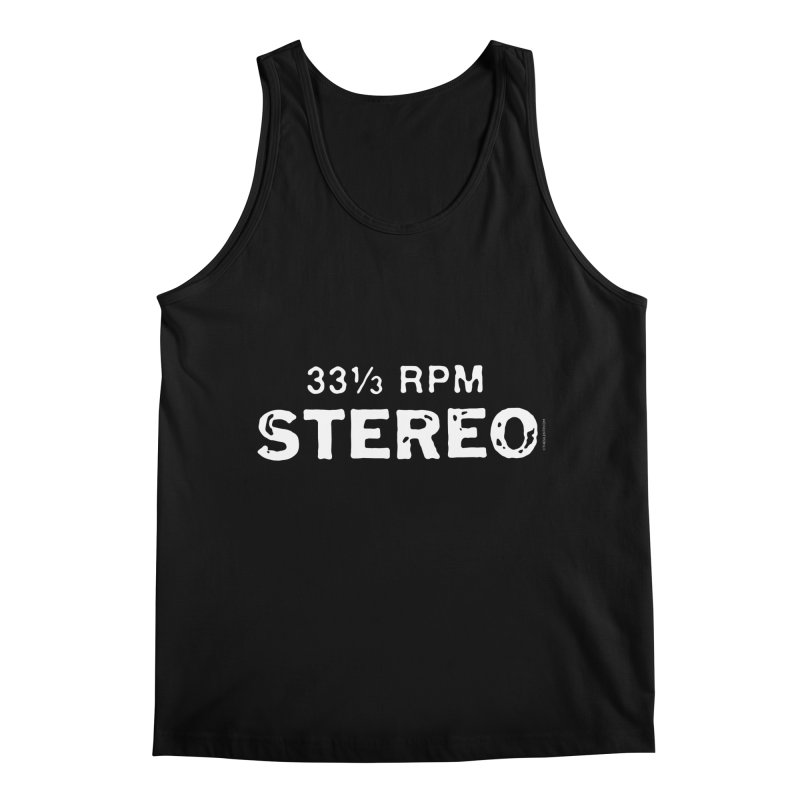 33 1/3 STEREO white Men's Regular Tank by CRANK. outdoors + music lifestyle clothing