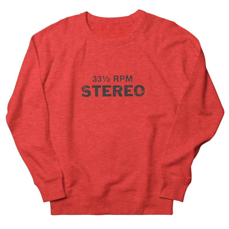 33 1/3 STEREO black Women's Sweatshirt by CRANK. outdoors + music lifestyle clothing