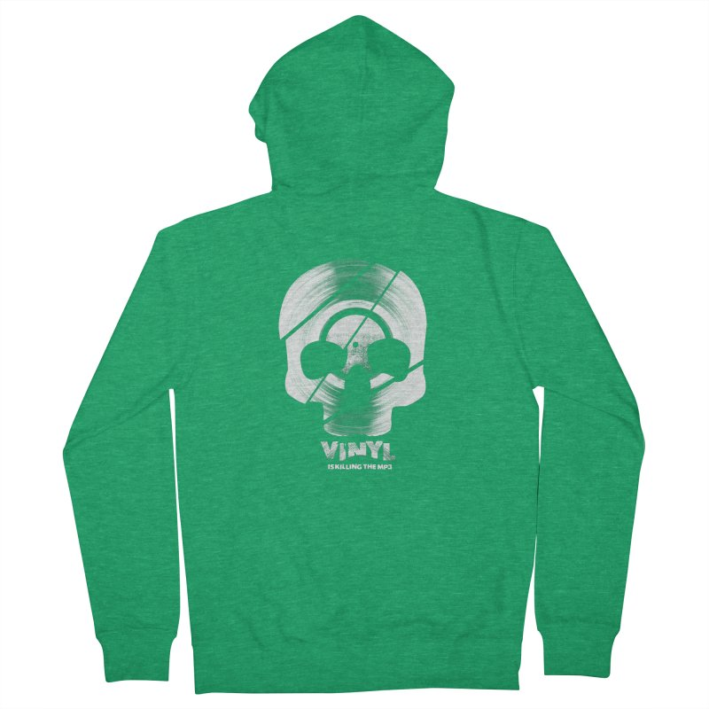 Vinyl Killing Skully Women's Zip-Up Hoody by CRANK. outdoors + music lifestyle clothing