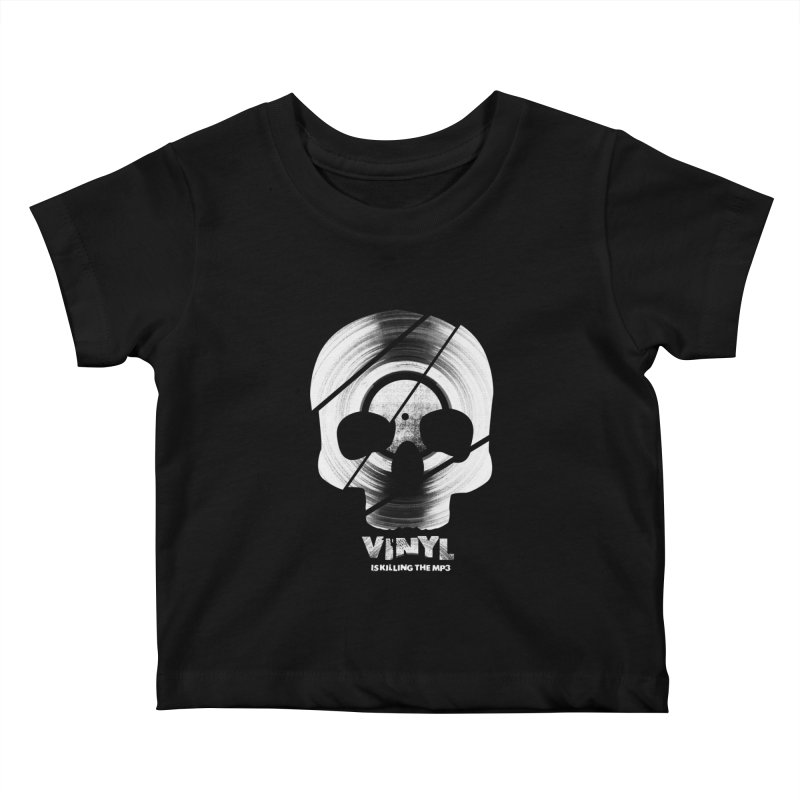 Vinyl Killing Skully Kids Baby T-Shirt by CRANK. outdoors + music lifestyle clothing