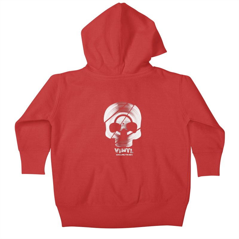 Vinyl Killing Skully Kids Baby Zip-Up Hoody by CRANK. outdoors + music lifestyle clothing