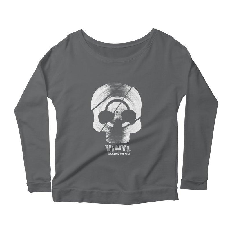 Vinyl Killing Skully Women's Longsleeve T-Shirt by CRANK. outdoors + music lifestyle clothing