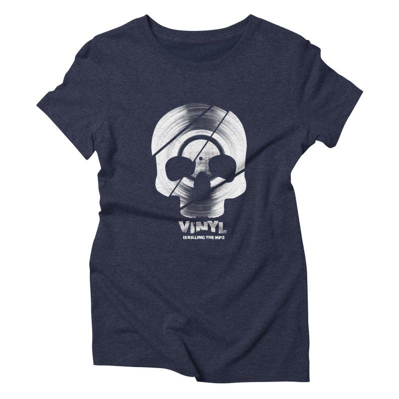 Vinyl Killing Skully Women's T-Shirt by CRANK. outdoors + music lifestyle clothing