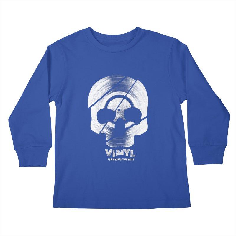 Vinyl Killing Skully Kids Longsleeve T-Shirt by CRANK. outdoors + music lifestyle clothing