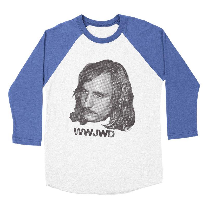 WWJWD (What Would Joe Walsh Do) Women's Baseball Triblend T-Shirt by CRANK. outdoors + music lifestyle clothing