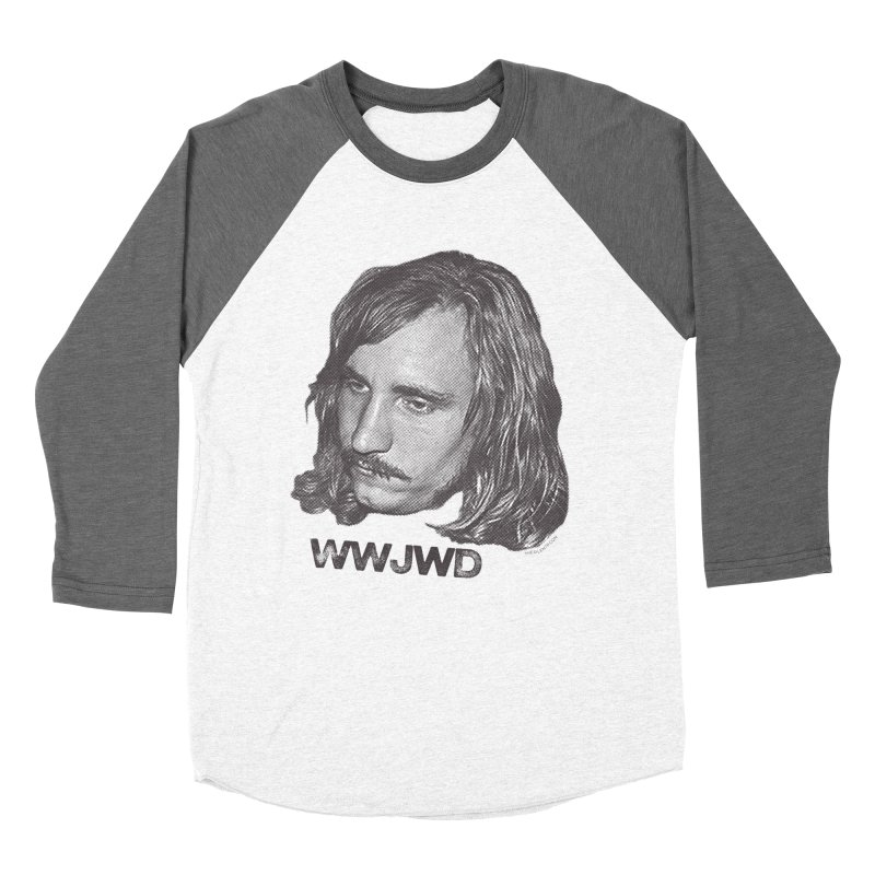 WWJWD (What Would Joe Walsh Do) Women's Baseball Triblend T-Shirt by CRANK. outdoors + music lifestyle clothing