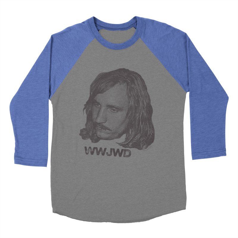 WWJWD (What Would Joe Walsh Do) Men's Baseball Triblend T-Shirt by CRANK. outdoors + music lifestyle clothing
