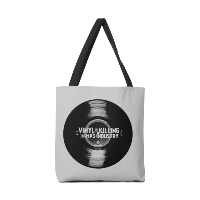 Vinyl is Killing the MP3 Industry (version 1) Accessories Bag by CRANK. outdoors + music lifestyle clothing