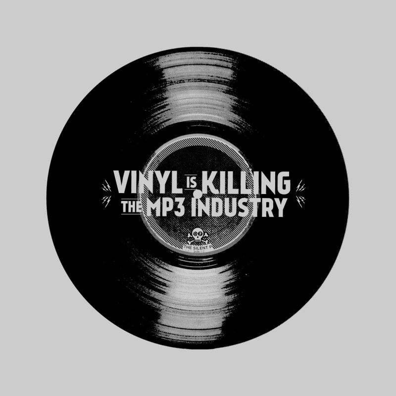 Vinyl is Killing the MP3 Industry (version 1) Home Framed Fine Art Print by CRANK. outdoors + music lifestyle clothing