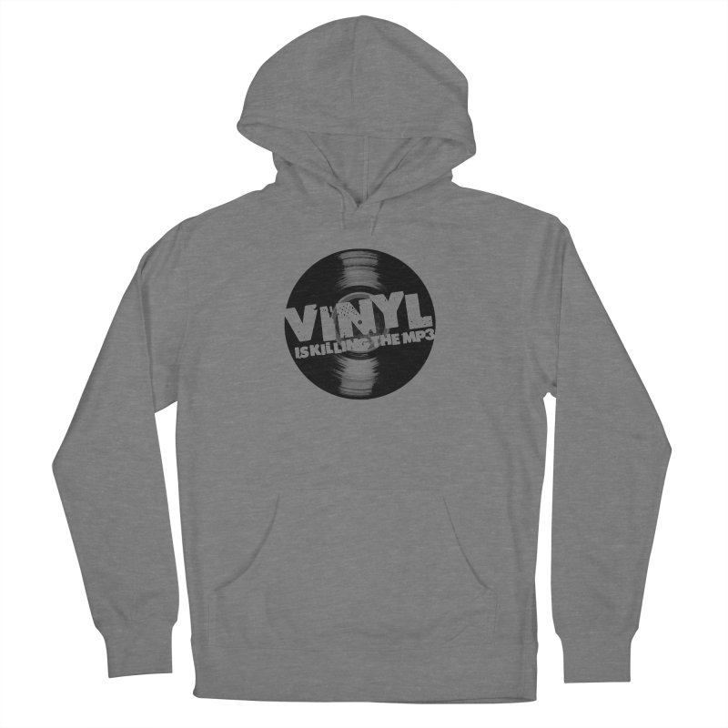 Vinyl is Killing the MP3 (version 2) Women's Pullover Hoody by CRANK. outdoors + music lifestyle clothing