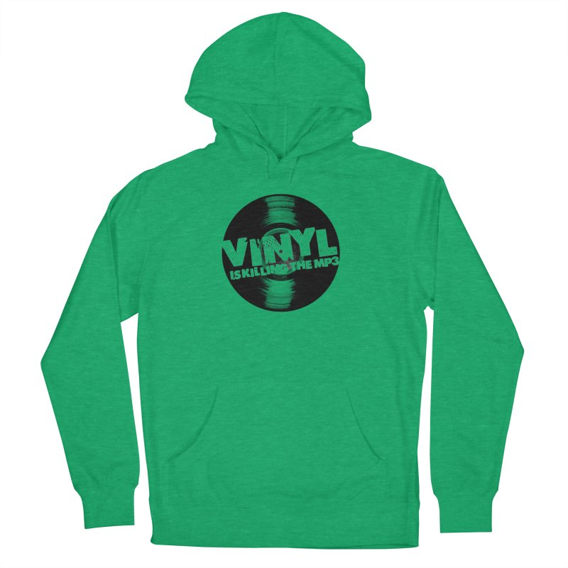 Vinyl is Killing the MP3 (version 2) Men's Pullover Hoody by CRANK. outdoors + music lifestyle clothing