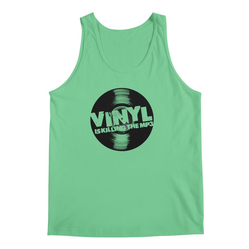 Vinyl is Killing the MP3 (version 2) Men's Tank by CRANK. outdoors + music lifestyle clothing