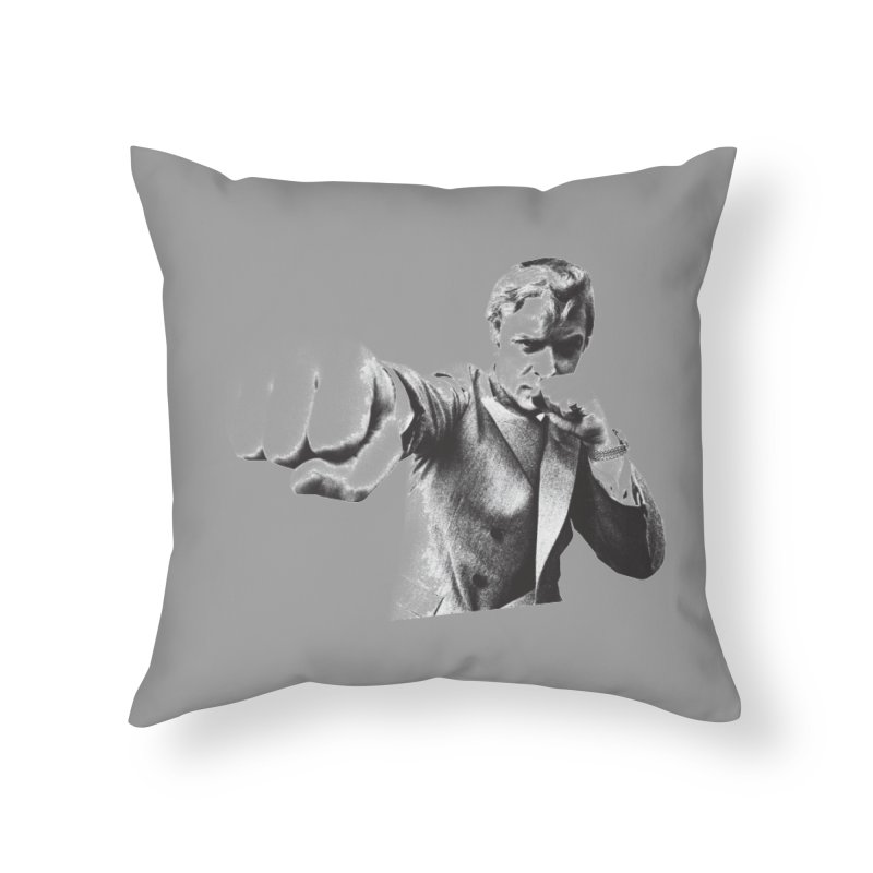 Punch Home Throw Pillow by CRANK. outdoors + music lifestyle clothing