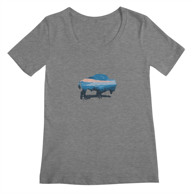 Bison Blue Ridge Women's Scoopneck by CRANK. outdoors + music lifestyle clothing