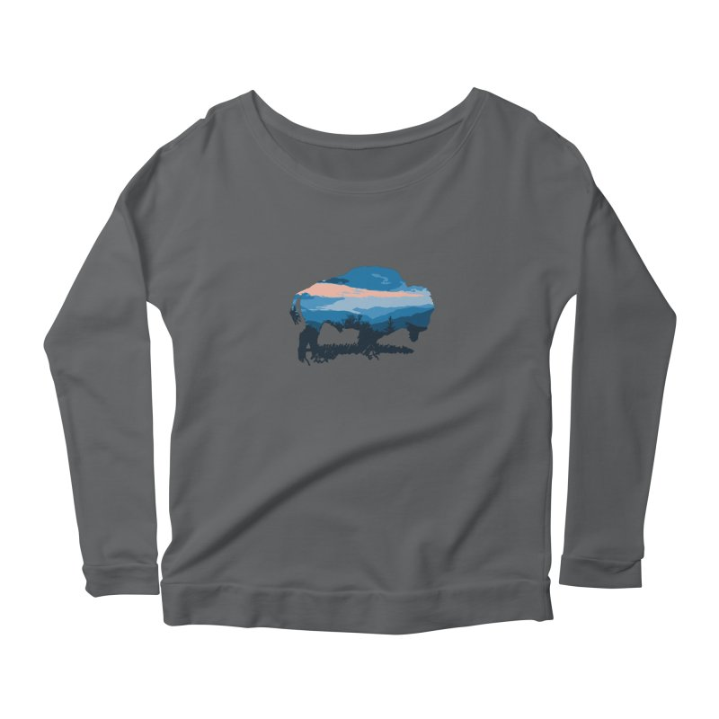 Bison Blue Ridge Women's Longsleeve T-Shirt by CRANK. outdoors + music lifestyle clothing