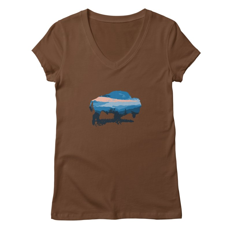 Bison Blue Ridge Women's V-Neck by CRANK. outdoors + music lifestyle clothing