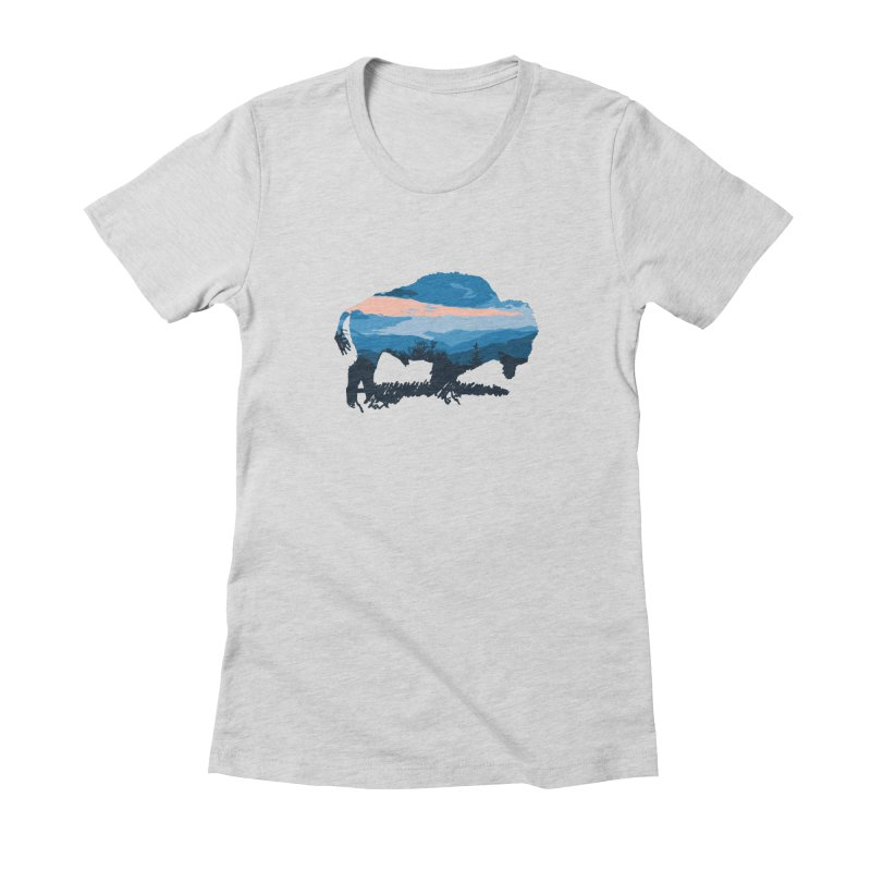 Bison Blue Ridge Women's T-Shirt by CRANK. outdoors + music lifestyle clothing