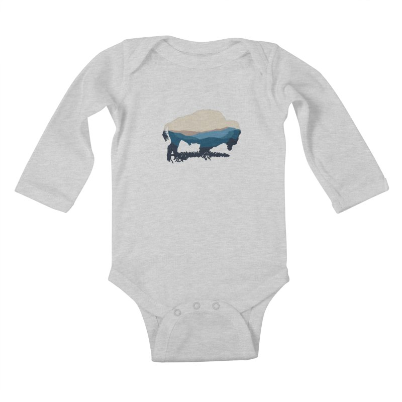 Bison Appalachian Kids Baby Longsleeve Bodysuit by CRANK. outdoors + music lifestyle clothing