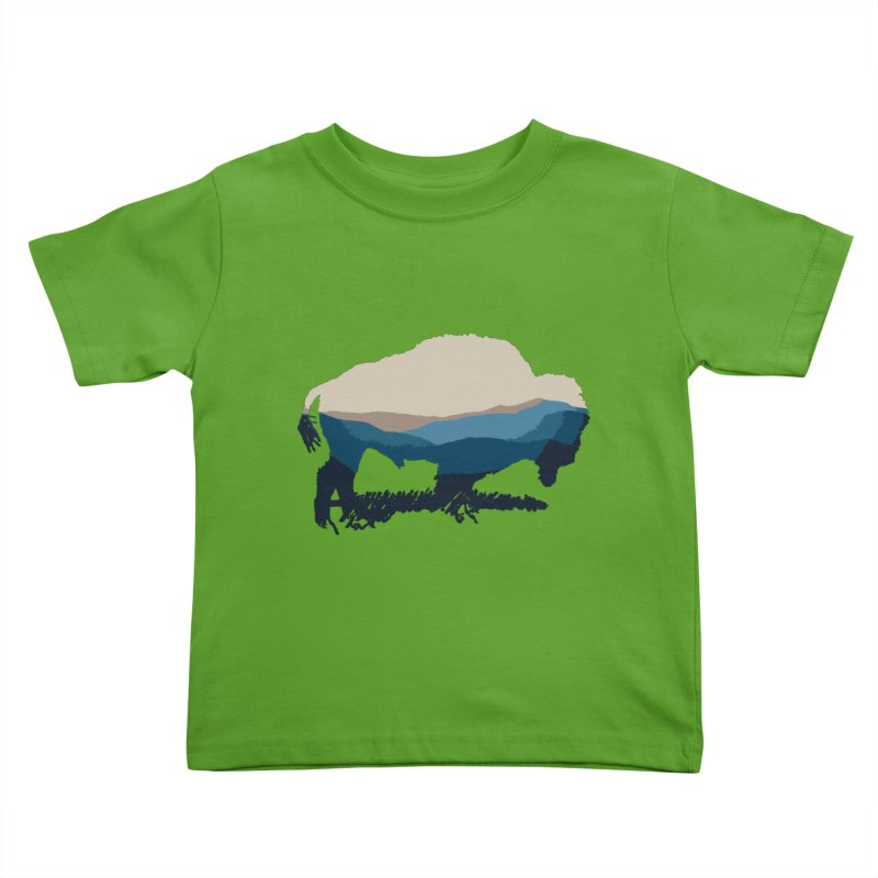 Bison Appalachian Kids Toddler T-Shirt by CRANK. outdoors + music lifestyle clothing