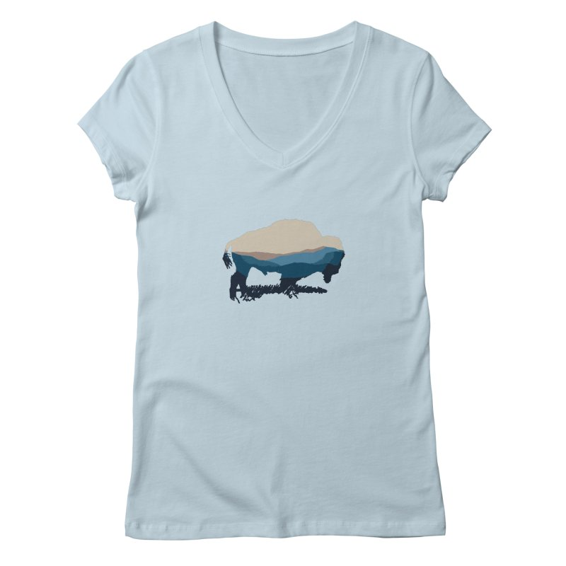 Bison Appalachian Women's V-Neck by CRANK. outdoors + music lifestyle clothing