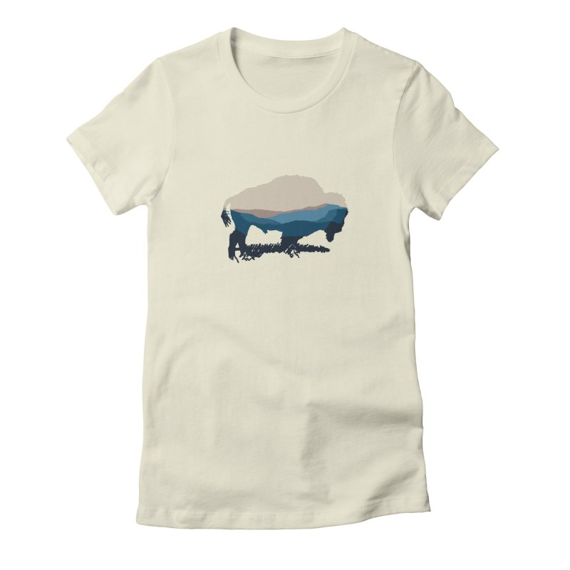 Bison Appalachian Women's T-Shirt by CRANK. outdoors + music lifestyle clothing