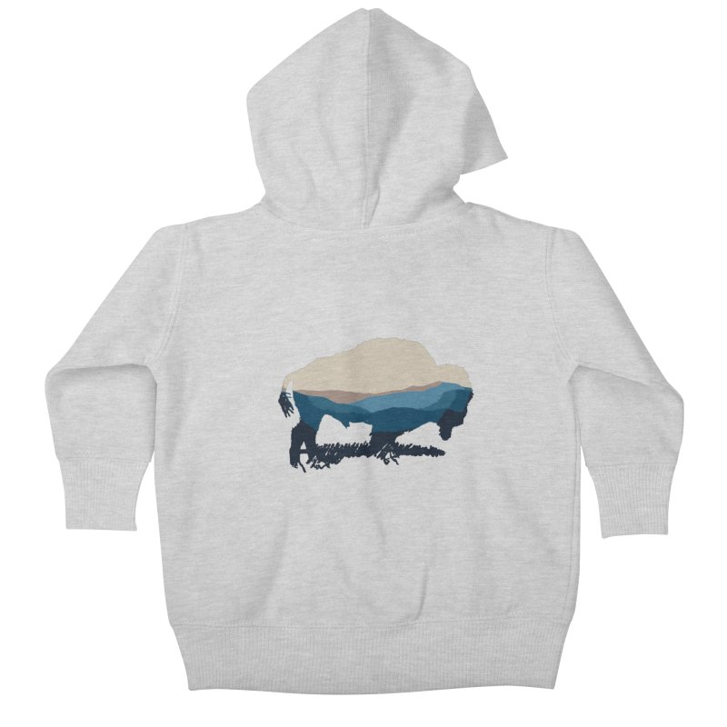 Bison Appalachian Kids Baby Zip-Up Hoody by CRANK. outdoors + music lifestyle clothing
