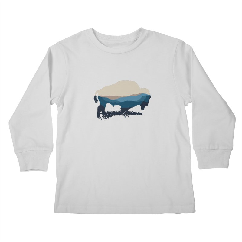 Bison Appalachian Kids Longsleeve T-Shirt by CRANK. outdoors + music lifestyle clothing