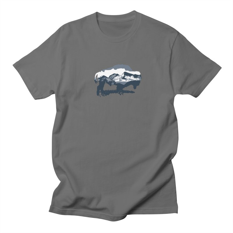 Bison Rockies in Men's Regular T-Shirt Asphalt by CRANK. outdoors + music lifestyle clothing