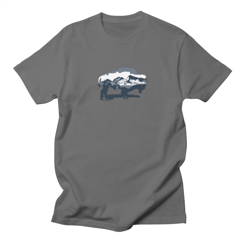 Bison Rockies Men's T-Shirt by CRANK. outdoors + music lifestyle clothing