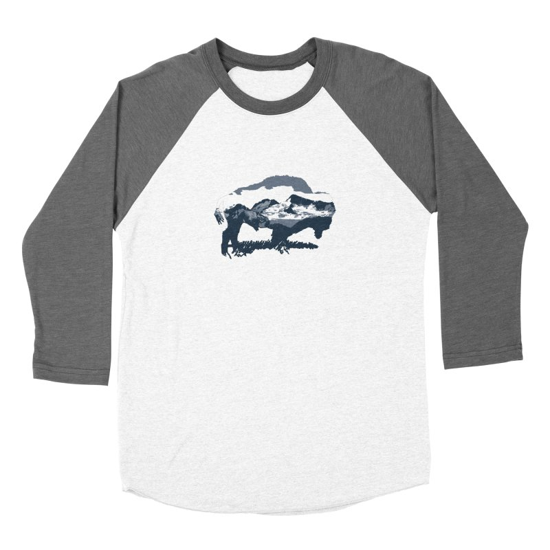 Bison Rockies Men's Baseball Triblend T-Shirt by CRANK. outdoors + music lifestyle clothing