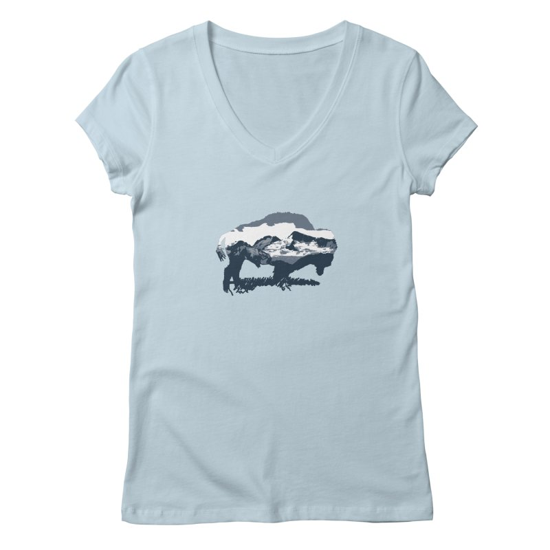 Bison Rockies Women's V-Neck by CRANK. outdoors + music lifestyle clothing