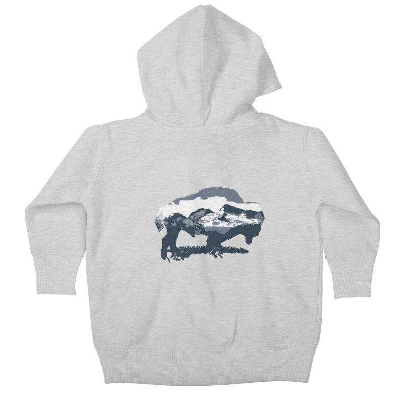 Bison Rockies Kids Baby Zip-Up Hoody by CRANK. outdoors + music lifestyle clothing
