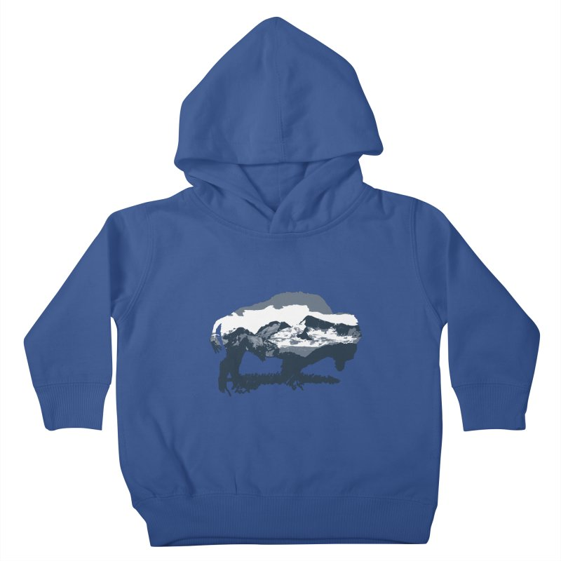 Bison Rockies Kids Toddler Pullover Hoody by CRANK. outdoors + music lifestyle clothing