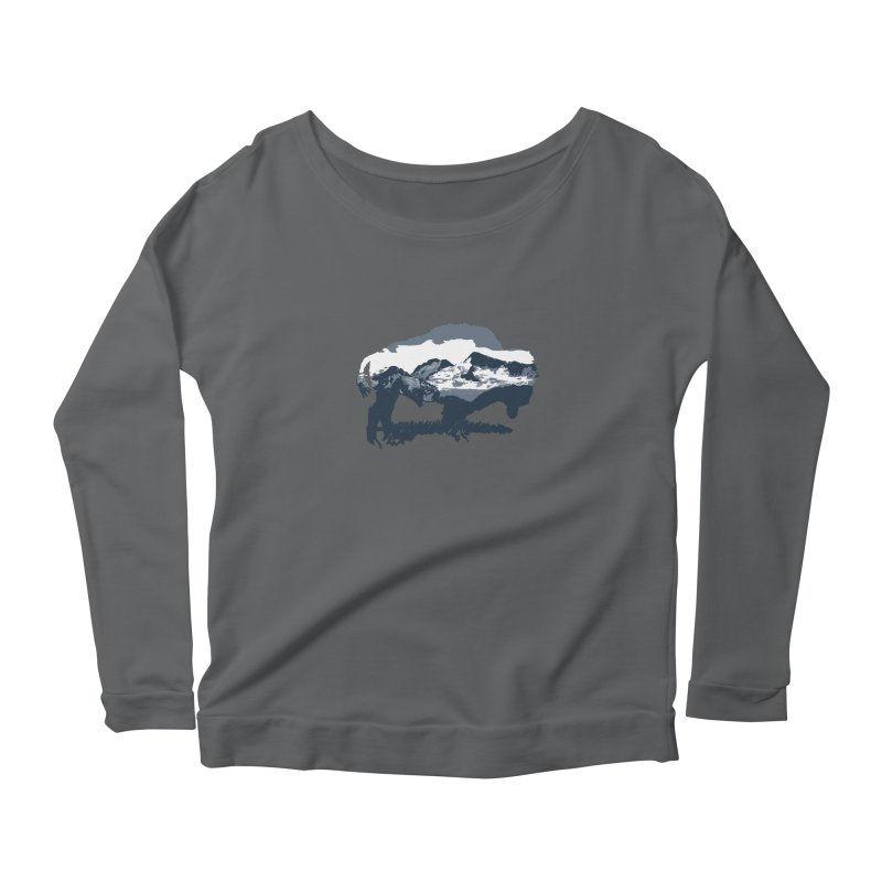 Bison Rockies Women's Longsleeve T-Shirt by CRANK. outdoors + music lifestyle clothing