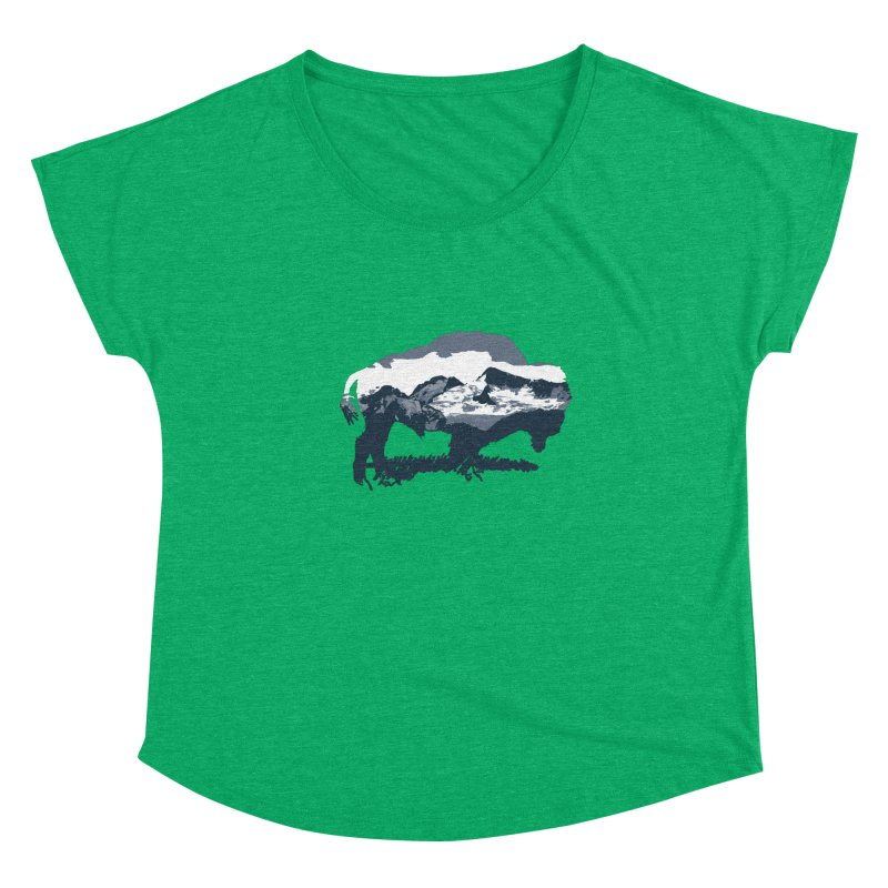 Bison Rockies Women's Dolman Scoop Neck by CRANK. outdoors + music lifestyle clothing