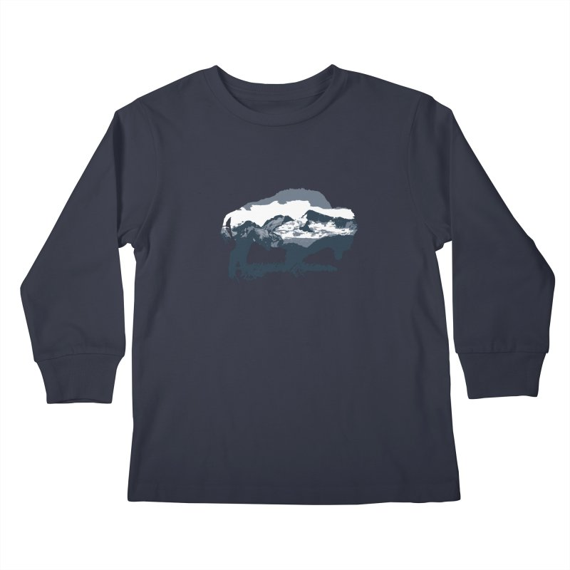 Bison Rockies Kids Longsleeve T-Shirt by CRANK. outdoors + music lifestyle clothing