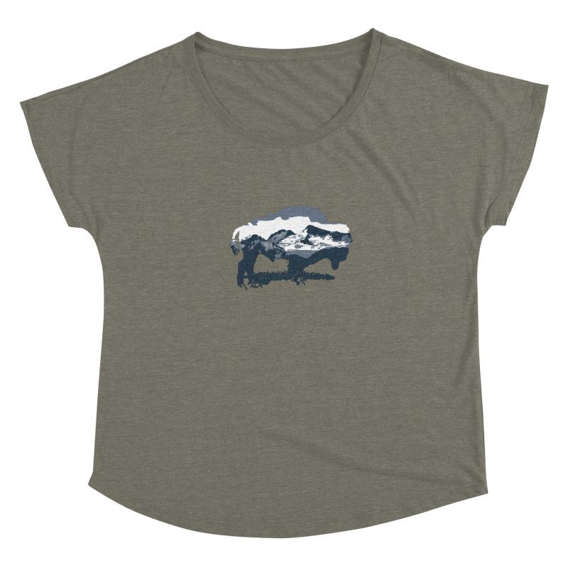 Bison Rockies Women's Scoop Neck by CRANK. outdoors + music lifestyle clothing