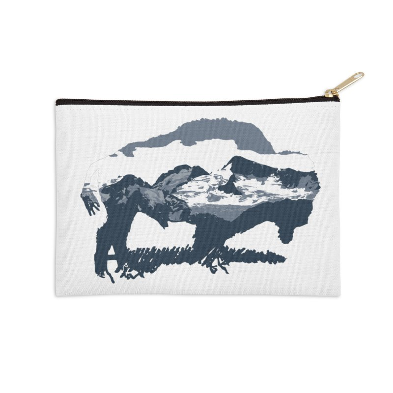Bison Rockies Accessories Zip Pouch by CRANK. outdoors + music lifestyle clothing