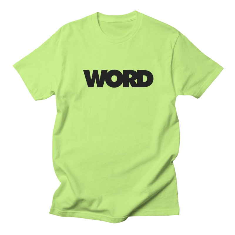 WORD. Men's T-Shirt by CRANK. outdoors + music lifestyle clothing